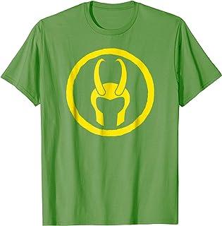 Marvel Loki Horned Helmet Icon Graphic T-Shirt