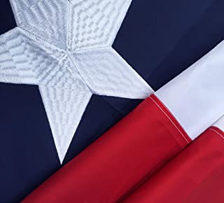Winbee Texas State Flag 12x18 Inch - Embroidered Stars, Sewn Stripes and Heavy Duty Long Lasting Nylon, UV Protected, 12 by 18 Inch Best USA Texas Flag (12x18 inch Texas Flag)