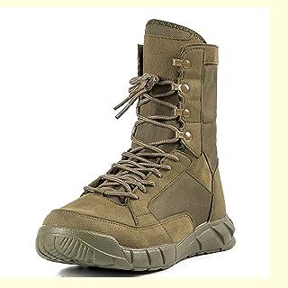 Bottes tactiques du désert en plein air pour hommes, bottes de combat d'entraînement militaire en peau de vache, bottes de...