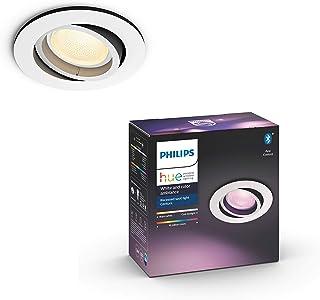 Philips Hue Centura Inbouwspot 1-Lichts - Duurzame LED Verlichting - Wit en Gekleurd Licht - Dimbaar - Verbind met Hue Blu...