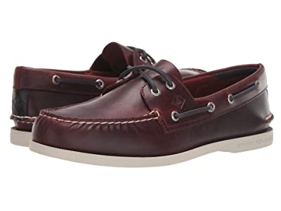 Sperry A/O 2-Eye Plush Varsity (Oxblood) Men
