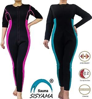 SISYAMA Women Sauna Neoprene Sweat Workout Fitness Weight Loss Hot Slimming Suit Long Pants/Sleeves