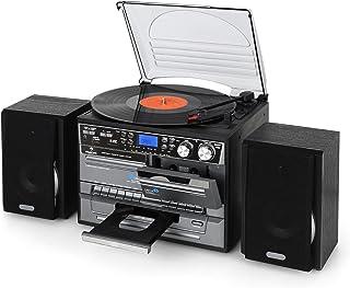 Auna TC-386 - Equipo de música Tocadiscos, Minicadena Hi-fi