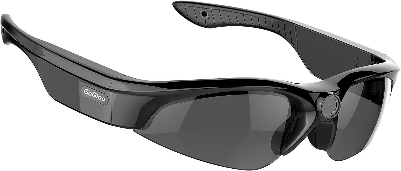 Gogloo POV Full HD 1080P Sport Polarized Sunglasses Video Camera Eywear Smart Glasses Camcorder CMOS MP4 H.264 (Black, 150degree Wide Angle Lens)