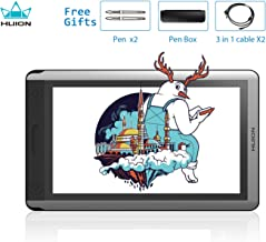 HUION KAMVAS GT-156HD V2 Graphics Drawing Monitor 15.6inch Pen Display Battery Free Drawing Tablet with 8192 Levels Pressure Sensitivity, Touch Bar and 14 Express Keys