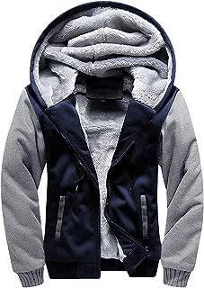 Fleece Hoodie Men Zip Up Soft Sport Hooded Sweatshirt