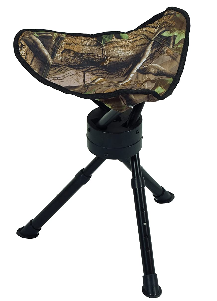 Ameristep Tripod Swivel Stool, Realtree Xtra Green Camo