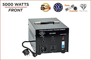 Dynastar Step Up & Step Down Voltage Converter and Transformer, 110-220 to 220-240 Volts; Heavy Duty, Extra Durable Lifetime Coil, 5-Year-Warranty, 5000 Watts