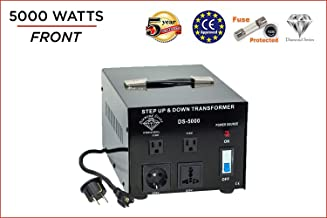 International Diamond Series Dynastar Step Up & Step Down Voltage Converter and Transformer, 110-220 to 220-240 Volts; Heavy Duty, Extra Durable Lifetime Coil, 5-Year-Warranty, 5000 Watts