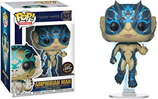 Funko Amphibian Man (Chase Edition): Shape of Water x POP! Movies Vinyl Figure & 1 POP! Compatible PET Plastic Graphical Protector Bundle [#637 / 32485 - B]