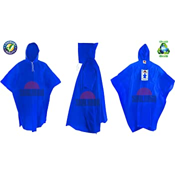 SHALIMAR Unisex Cross Laminated Reusable Rain Poncho (Hero) Pack of 4 Multicolor, Free Size
