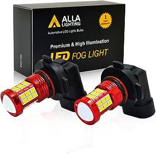Alla Lighting H8 H11 LED Fog Lights Bulbs 2835 36-SMD 3000lm Extreme Super Bright DRL, 8000K Ice Blue
