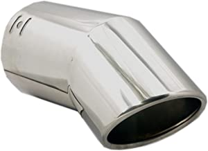 Exhaust tip - To Fit 2.5 to 3 Inch Exhaust tail Pipe Diameter- Stainless Steel to give chrome effect - Car Muffler tips