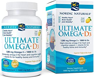 Nordic Naturals - Ultimate Omega-D3, Supports Healthy Bones and Immunity, 60 Soft Gels