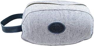 حقيبة أدوات تجميل من قماش الدنيم القابل لإعادة الاستخدام، منظم، حقيبة سفر، إكسسوارات منزلية ومكتبية، مصنوعة يدويًا تشمل ضم...