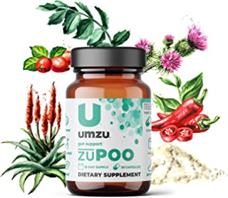 UMZU: zuPoo 15-Day Supply - Relief from Temporary Bloating - Natural Gentle Laxative Properties - Can Flush...