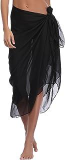 iClosam Women Chiffon Beach Pareo Sarong Wrap Dress Bikini Cover Up Swimsuit Wrap