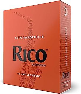 D'Addario Rico Alto Sax Reeds, Strength 2.5, 10-pack