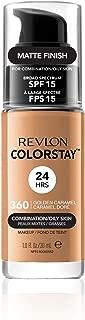 Revlon ColorStay Liquid Foundation For Combination/oily Skin, SPF 15, Golden Caramel, 1 Fl Oz