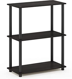 Furinno Turn-N-Tube Display Rack, 3-Tier Single, Espresso/Black