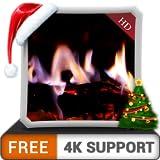 chimenea virtual HD gratis: disfrute de las frías noches de invierno en las vacaciones de Navidad en su TV HDR 4K, TV 8K y dispositivos de fuego como fondo de pantalla y tema para la mediación y la pa