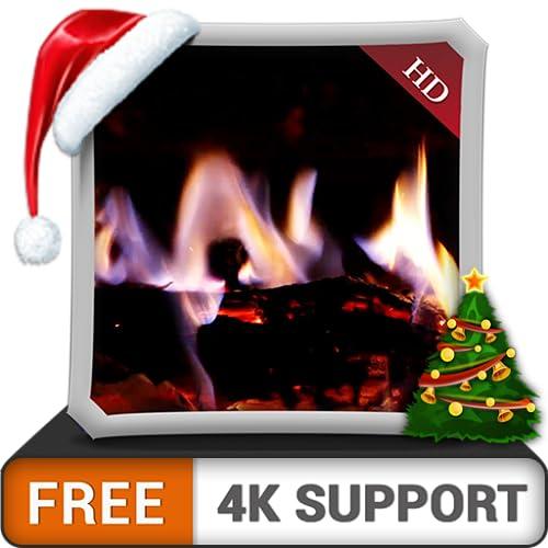 kostenloser virtueller Kamin HD - genießen Sie die kalten Winternächte in den Weihnachtsferien auf Ihrem HDR 4K-Fernseher, 8K-Fernseher und Feuergeräten als Hintergrundbild und Thema für Vermittlung u