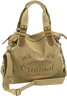 7f1d54df8b Jennifer Jones HAROLD'S 4541 Grand sac à main en toile pour femme avec  empiècement en cuir