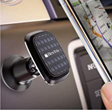 Magnetic car Mount Universal car Interior Phone Holder Dashboard Phone Mount Compatible with All Smartphones and Mini Tablets by Bestrix (Black)