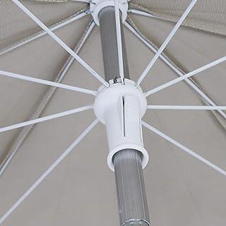 CHILLVERT KAN215 - Parasol de Jardín Hampton Aluminio Fijo, Ø240, Beige
