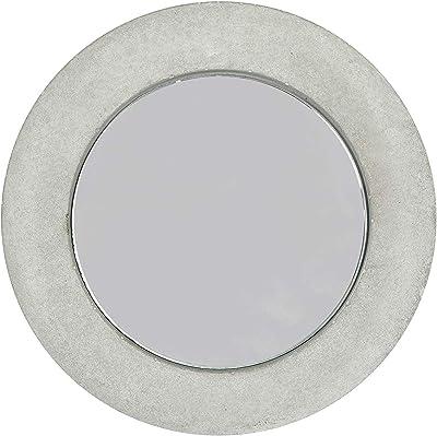 Casa Decor Ginas Circle Concrete Mirror Decorative Glass for Wall Mirror Home Décor Mirror