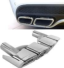 FidgetGear AMG Style Silver Exhaust Muffler Tips for Mercedes Benz W212 W221 W204 W205 W218