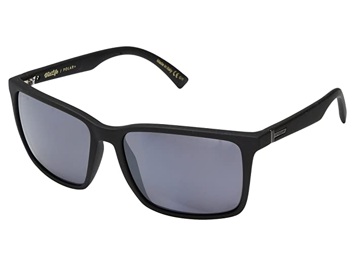 VonZipper Lesmore Polar (Black Satin/Wild Silver Flash Polar Plus) Sport Sunglasses