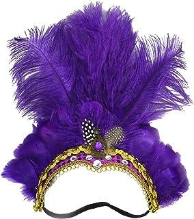 Smiffys 48887 Mad Hatter Mini chapeau plume pour femme Violet