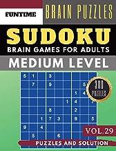 Sudoku Medium: Jumbo 300 SUDOKU medium difficulty with solution Brain Games Puzzles Books for Adult and Senior (sudoku medium puzzle books Vol.29)
