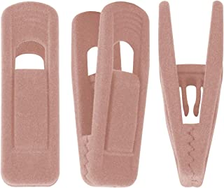 Trgowaul Blush Pink Velvet Hangers Clips, Pants Hangers Velvet Clips, Strong Finger Clips Perfect for Thin Velvet Hangers (20 PCS Blush Pink)