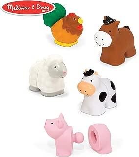 Melissa & Doug Pop Blocs Farm Animals Educational Baby Toy (10 Linkable Pieces)