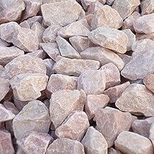 天然石 砕石砂利 3-4cm 140kg パウダーピンク (ガーデニングに最適 ピンク砂利)