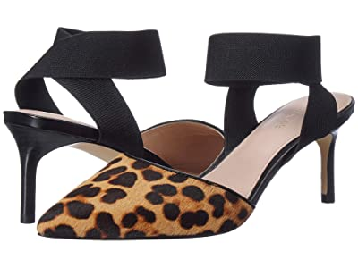 Rachel Zoe Blaire Pump (Leopard Haircalf/Black) High Heels