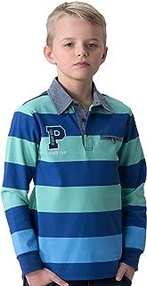 Big Boys' Kids Yarn Dyed Polo Shirts Chambary CollarsT-Shirt