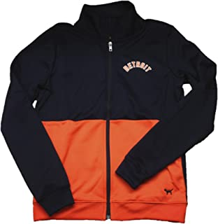 Pink Detroit Tigers Track Jacket Navy