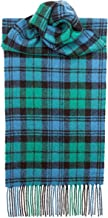 USA Kilts Campbell Ancient Tartan Wool Scarf Made in Scotland