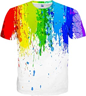 Unisex 3D Colorful Print Graphic Tee Shirts for Men Women and Teens