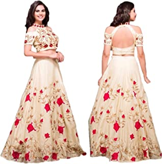 REKHA Ethinc Shop Traditional Bridal Wedding Lehenga Choli Off White Color with Net Duptta A347
