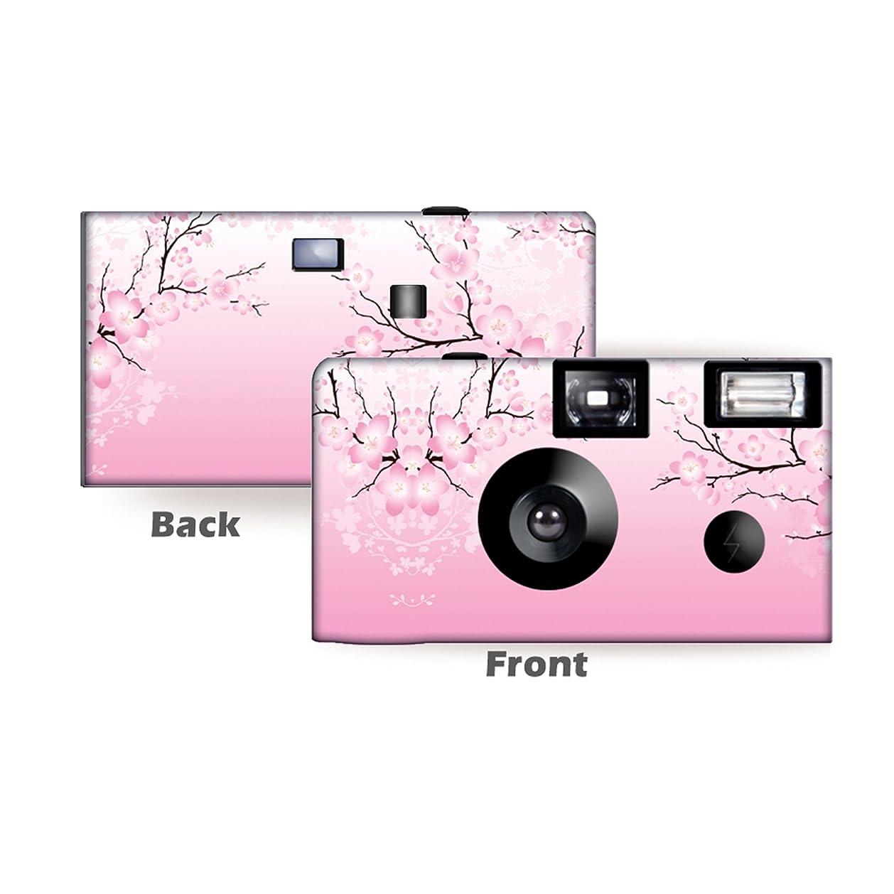 やるサイトライン影響力のある5パックCherry Blossoms使い捨てカメラ