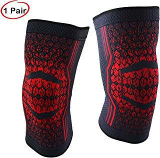 KOLORFULL Knee Brace, Knee Compression Sleeve Support for Running, Arthritis, ACL, Sports, Joint Pain Relief and Injury Recovery (L)