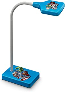Philips Marvel Vengadores - Lámpara de escritorio, LED, luz fría, bombilla de 4 W, color azul