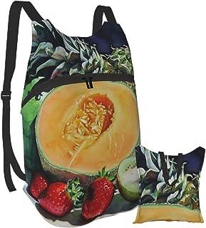 Mochila portátil plegable para adultos, mochila para computadora, comida de frutas, amarillo oscuro, negro, antirobo, delgada, duradera, para portátiles