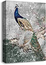 NWT Canvas Wall Art Beautiful Peacock Painting Artwork for Home Prints Framed - 16x24 inches