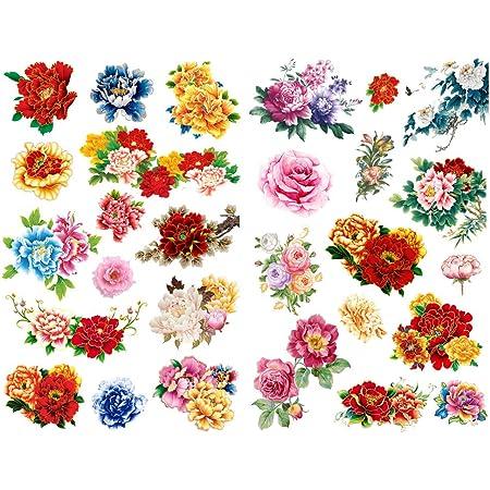 360 Pieces Flower Stickers Set,Plants Floral Style Decoration Stickers Decorative Pastel Decals for Scrapbook