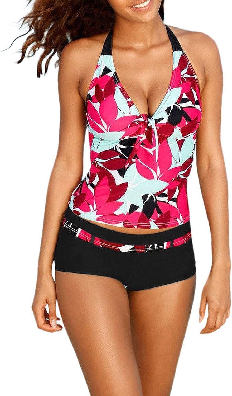 Little lemon Women's Swimming Suit Swimsuit Tankini Sets with Boy Shorts Ladies Swimwear Two Piece Swimsuits Swimwear New